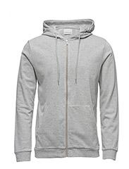 Enno zip hoodie 7057 - LIGHT GREY MEL.