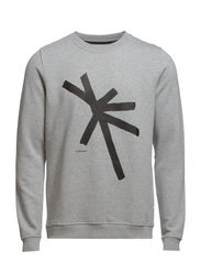 Rachwan star sweat o-n 3188 - LIGHT GREY MEL.