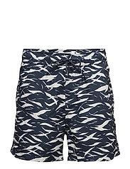 Mason swim shorts aop 6956 - BLUE MONSUN AOP