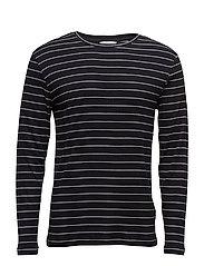 Grays stripe o-n ls 7591 - BLACK ST