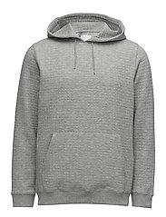 Ledger hoodie 9463 - GREY MEL.
