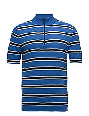 Manush t-n zip polo 6914 - STRONG BLUE ST