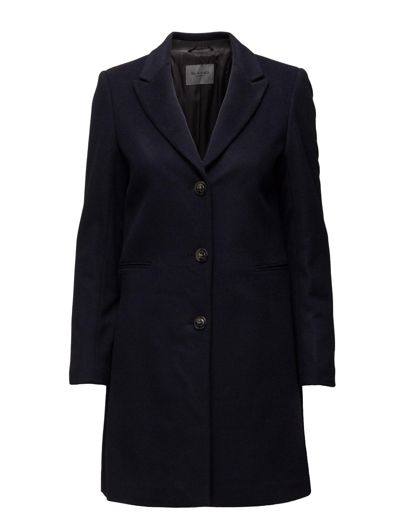 Cashmere Coat W - Britni SAND Frakker til Kvinder i Sort