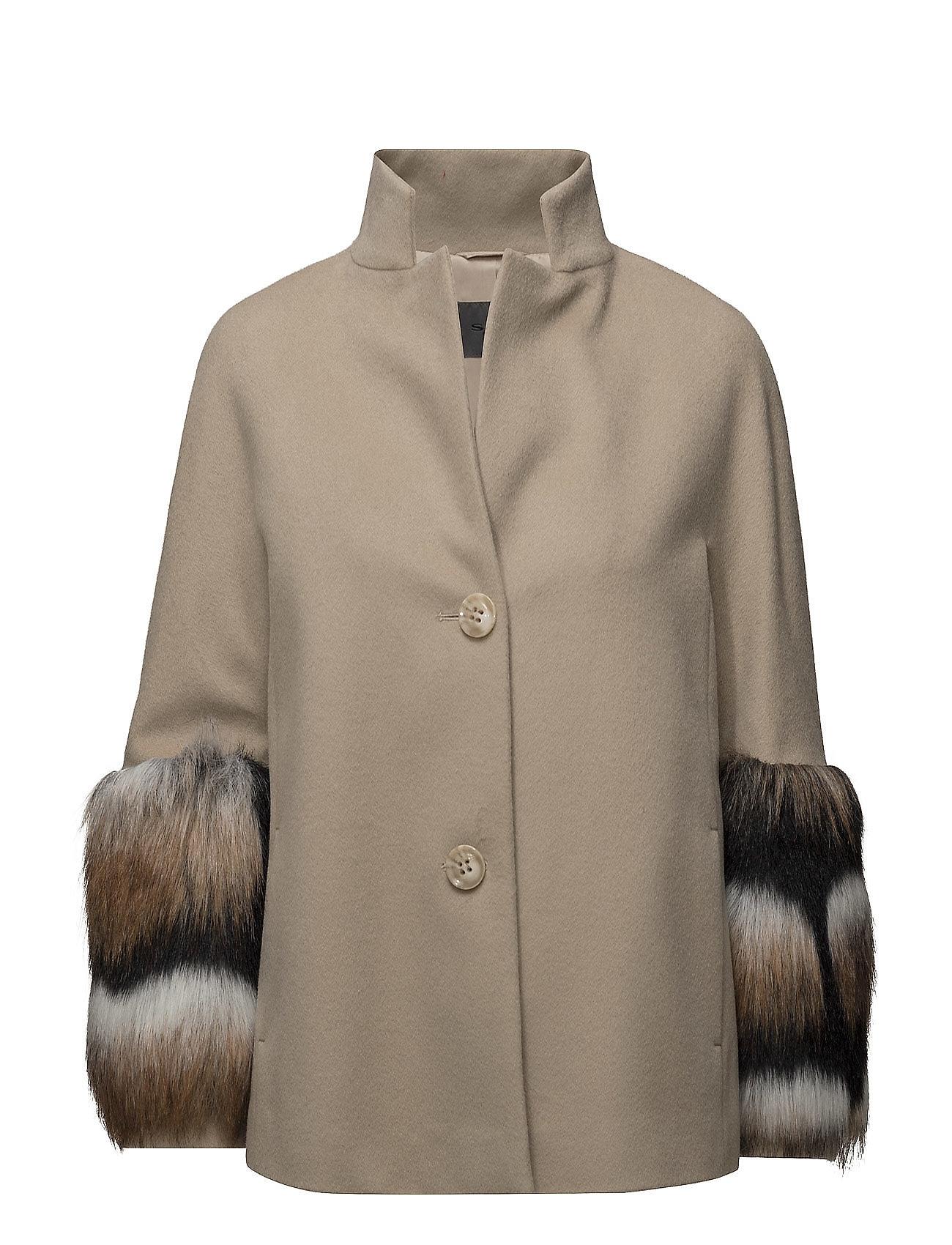 sand Cashmere coat px - arcelia short fra boozt.com dk