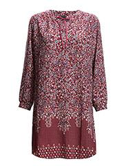 3008 - Agnete Dress - Dark Red