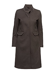 Cashmere Coat W - Parker 3 - EARTH BROWN