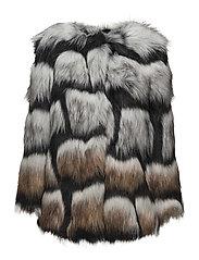 Fur Jacquard - Cascada - BLACK