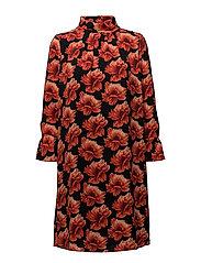 Rose Crepe - Prosa 3 Dress - MEDIUM RED