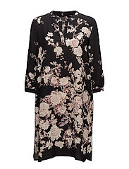 3599 New - Dinora Dress - BLACK