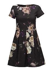 Mega Rose Cotton - Norma Dress - BLACK