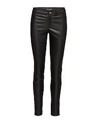 Stretch Leather - Hallie - BLACK