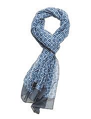 Scarf MW - S188 - 70 x 180 cm - DARK BLUE/NAVY