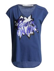 LOVE v-neck 1/4 - galactic blue