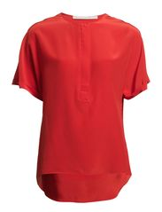 PRETTY blouse 1/2 - pop red