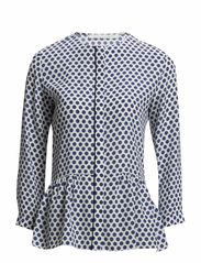 SPOT blouse 3/4 - blue dot