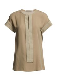 GRAPHIC blouse 1/4 - mineral sand