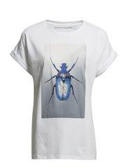 METALLIC JEWELS shirt o-neck 1 - blue bug
