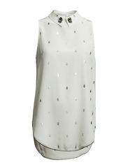 DESIRE blouse sl.less. - camellia white