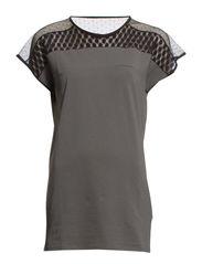 DARK NIGHTS shirt o-neck 1/4 - anthracite edge