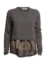 I FEEL FINE pullover o-neck 1/ - cool melange