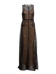 COUTURE long dress sl.less - pure black