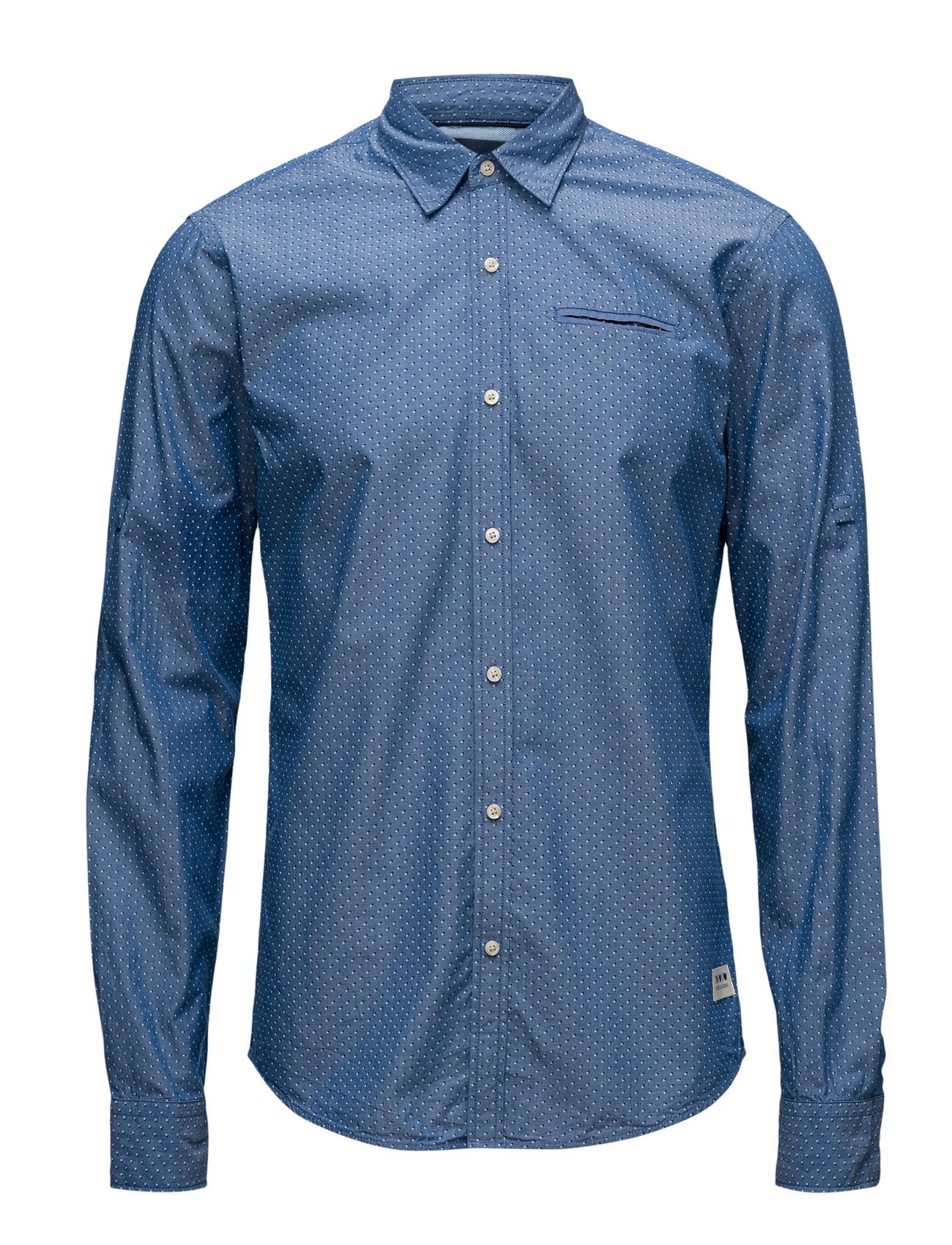 Longsleeve Shirt With All-Over Printed Scotch & Soda Business til Herrer i