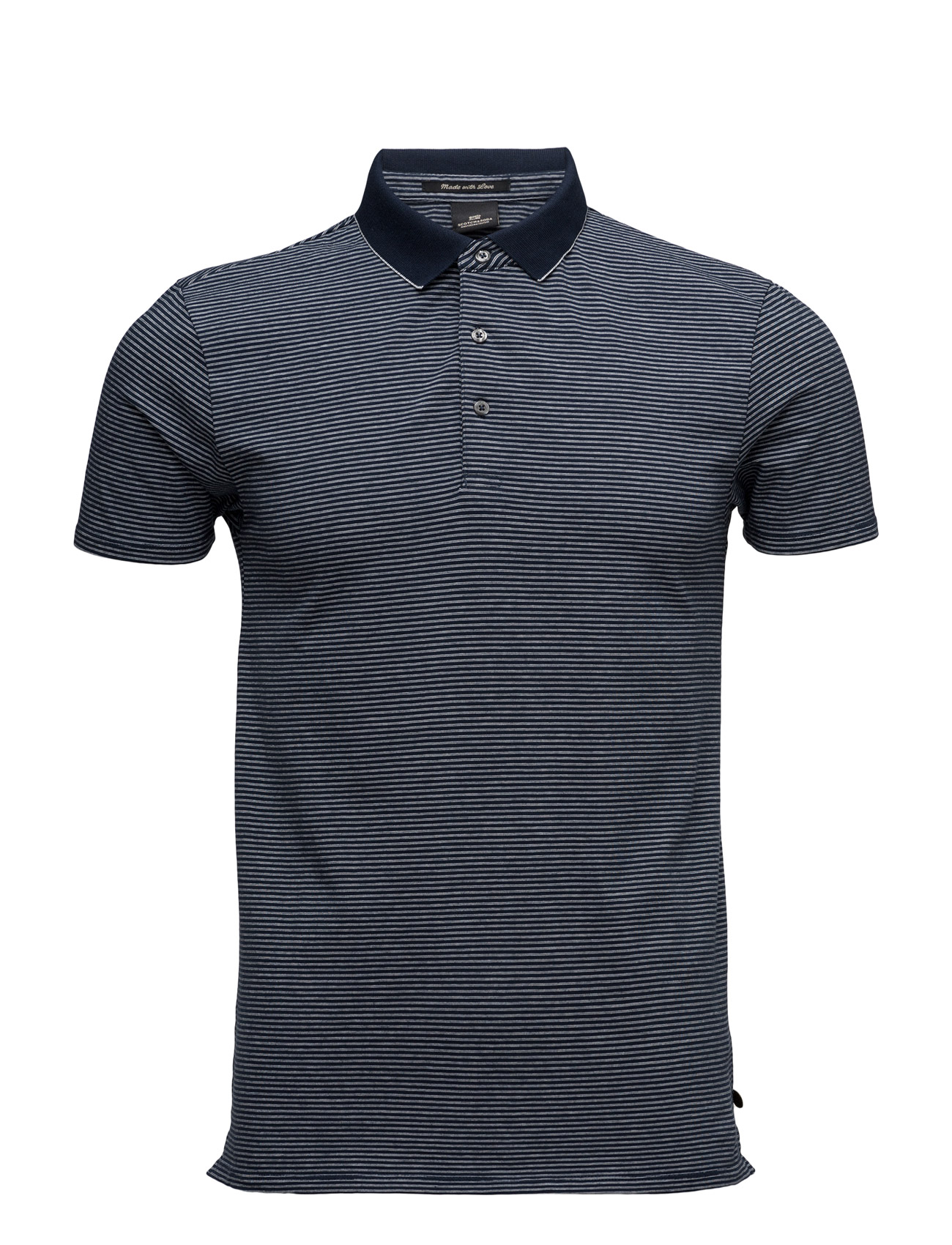 Classic Polo In Cotton/Elastane Quality Scotch & Soda Kortærmede polo t-shirts til Mænd i