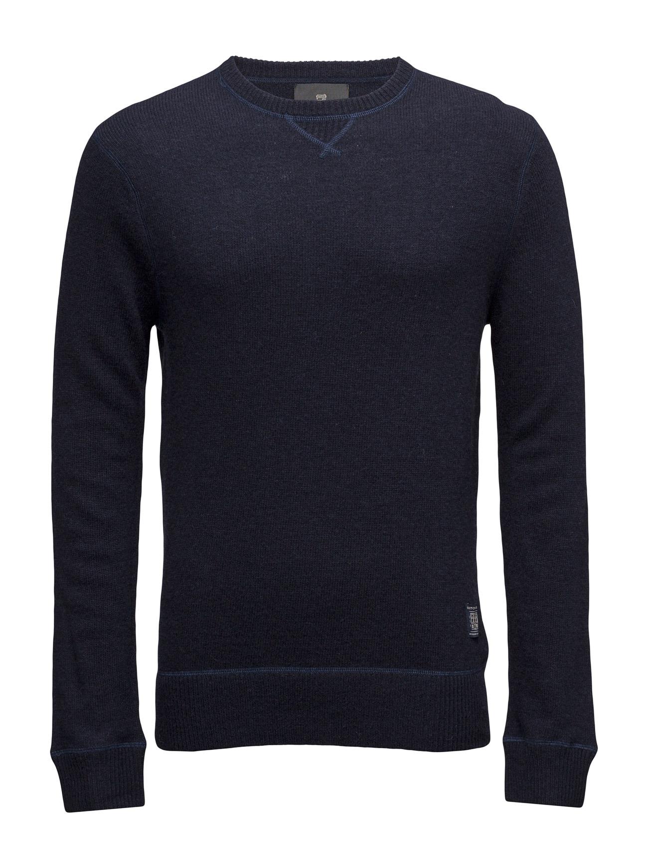 Crewneck Pullover In Boiled Wool Quality Scotch & Soda Striktøj til Mænd i