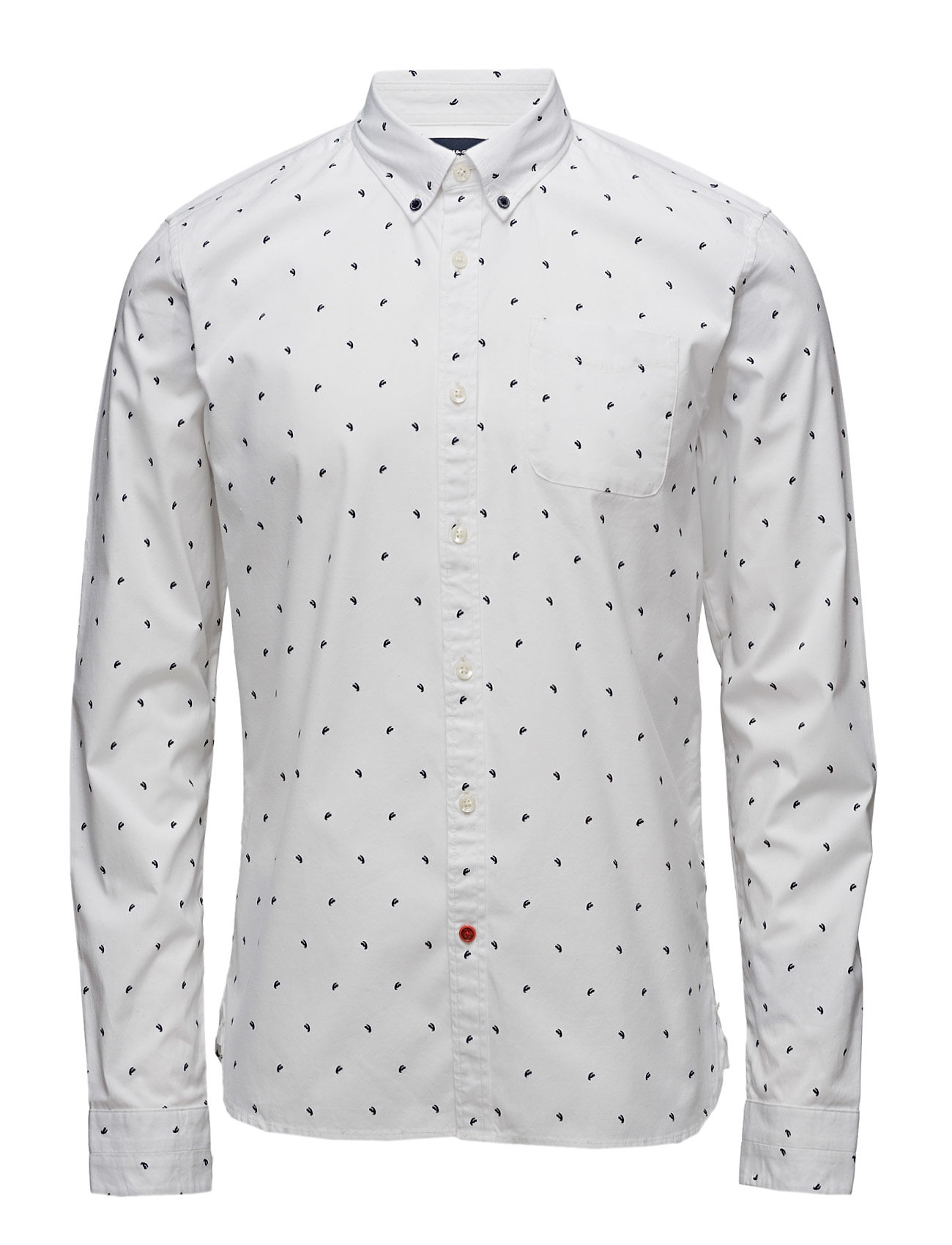 Ams Blauw Allover Print Slim Fit Shirt Scotch & Soda Casual sko til Mænd i Combo A