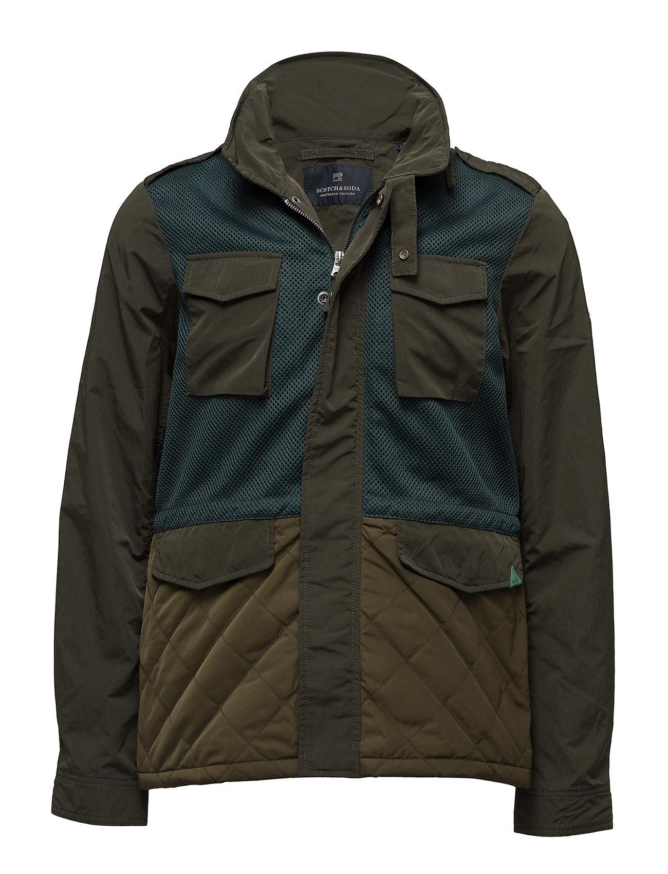 Jacket In Mix & Match Polyester/ Nylon With Military Scotch & Soda Jakker til Herrer i Combo A