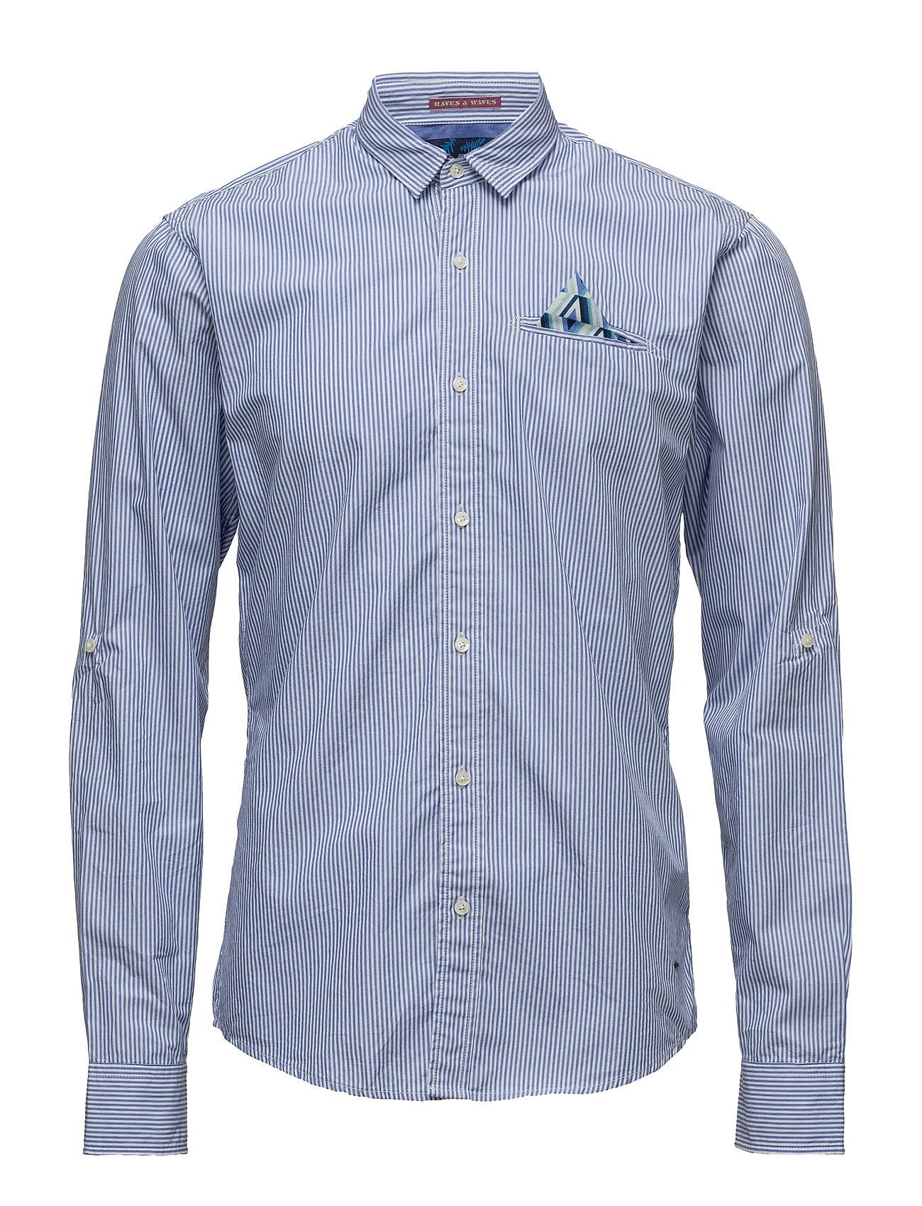 Classic Longsleeve Shirt With Fixed Multicolour Pochet Scotch & Soda Business til Herrer i
