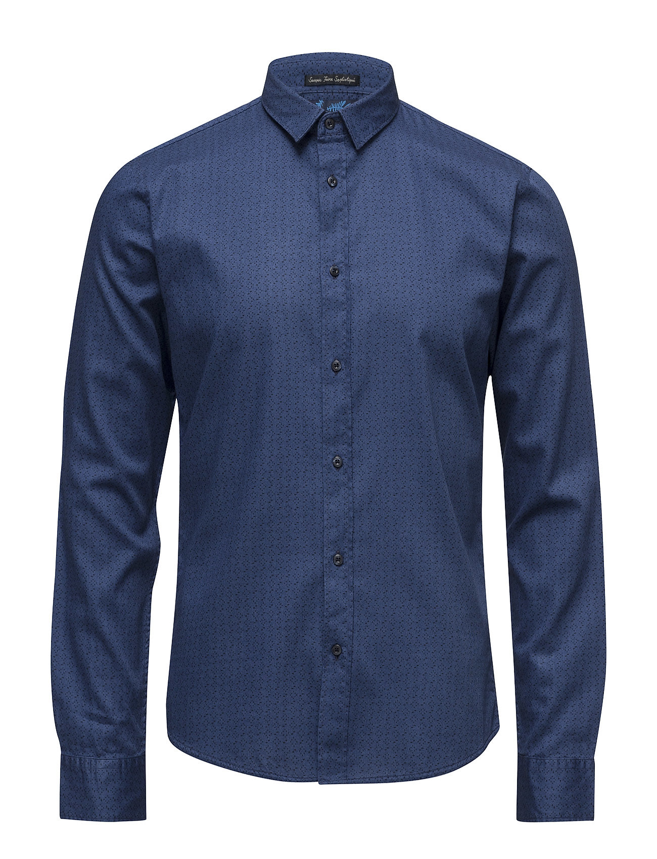 scotch & soda Longsleeve shirt in structured cotton with all-over fra boozt.com dk