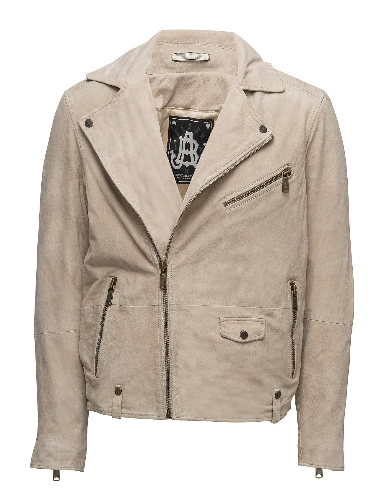 Blauw racers vintage inspired suede biker jacket fra scotch & soda fra boozt.com dk