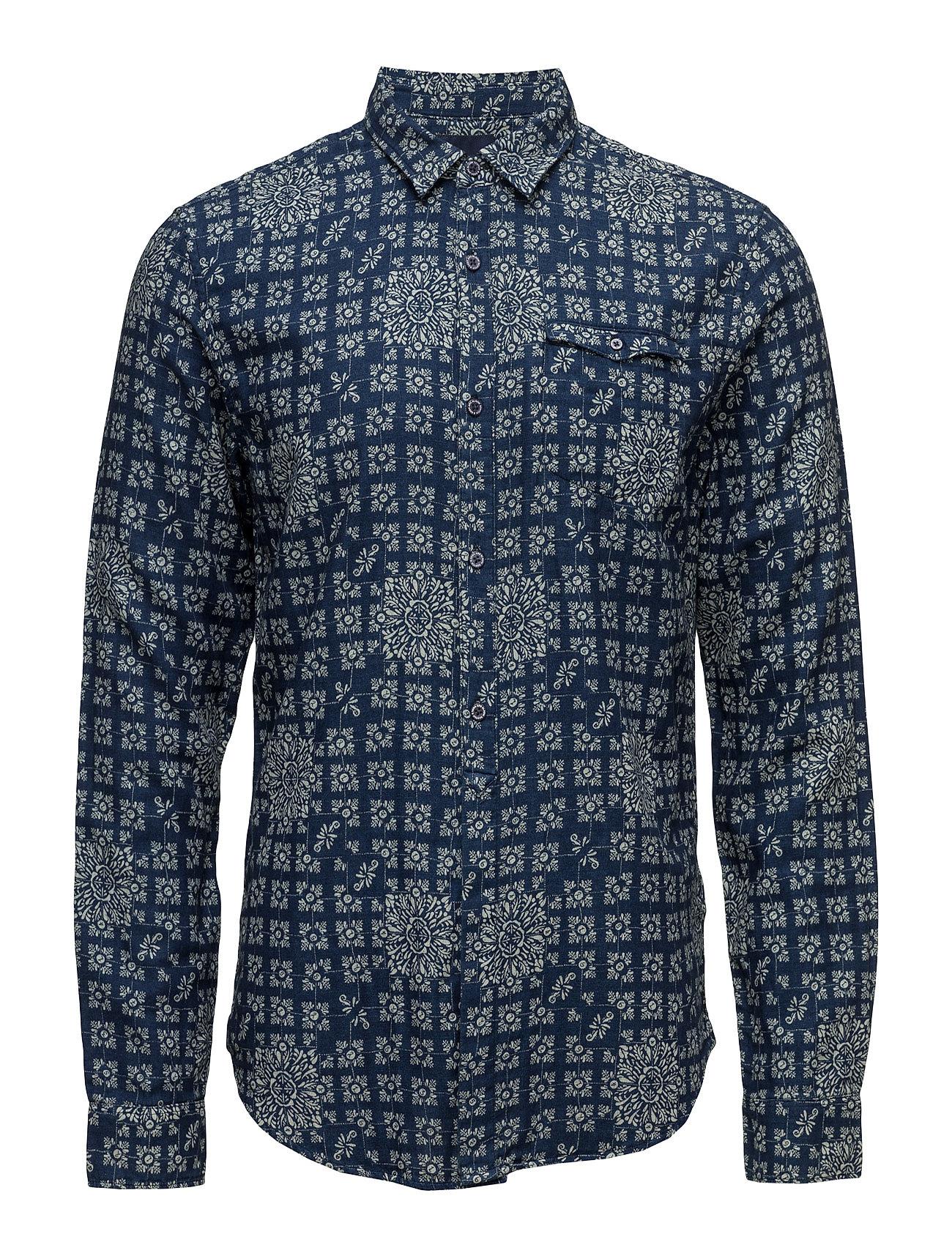 Regular fit double weave indigo shirt with refined details fra scotch & soda på boozt.com dk