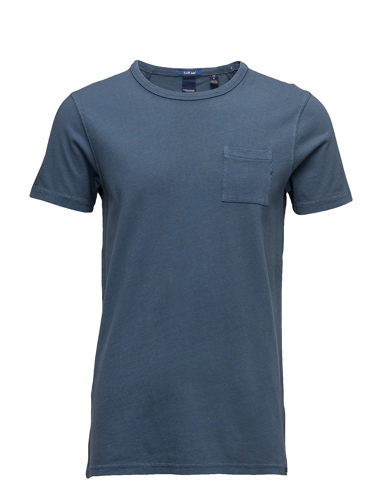 Ams Blauw Regular Fit Tee In Autumn Colours With Wash Effect Scotch & Soda T-shirts til Mænd i