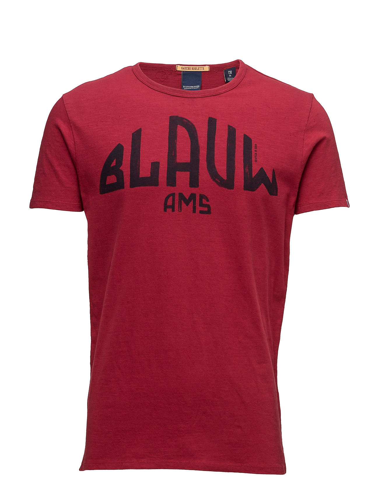 Ams Blauw Signature Printed Tee In Regular Fit With Relaxed Scotch & Soda Kortærmede til Herrer i
