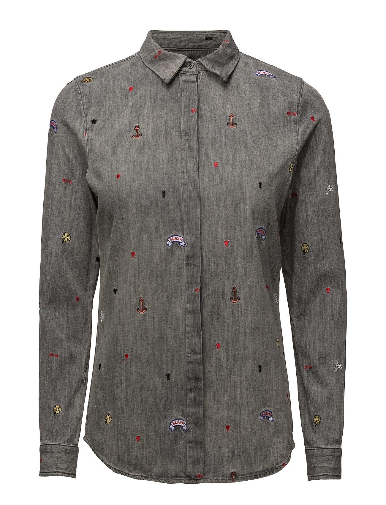 scotch & soda Allover embroidered shirt fra boozt.com dk