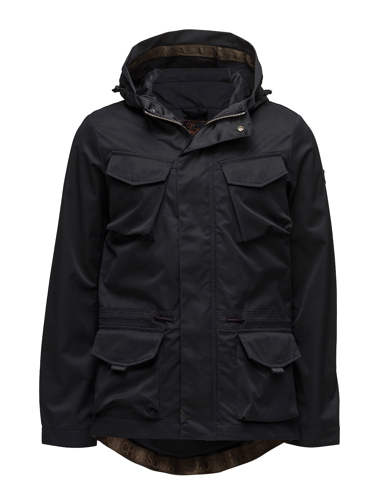 scotch & soda Hooded jacket in technical quality with mesh lining fra boozt.com dk