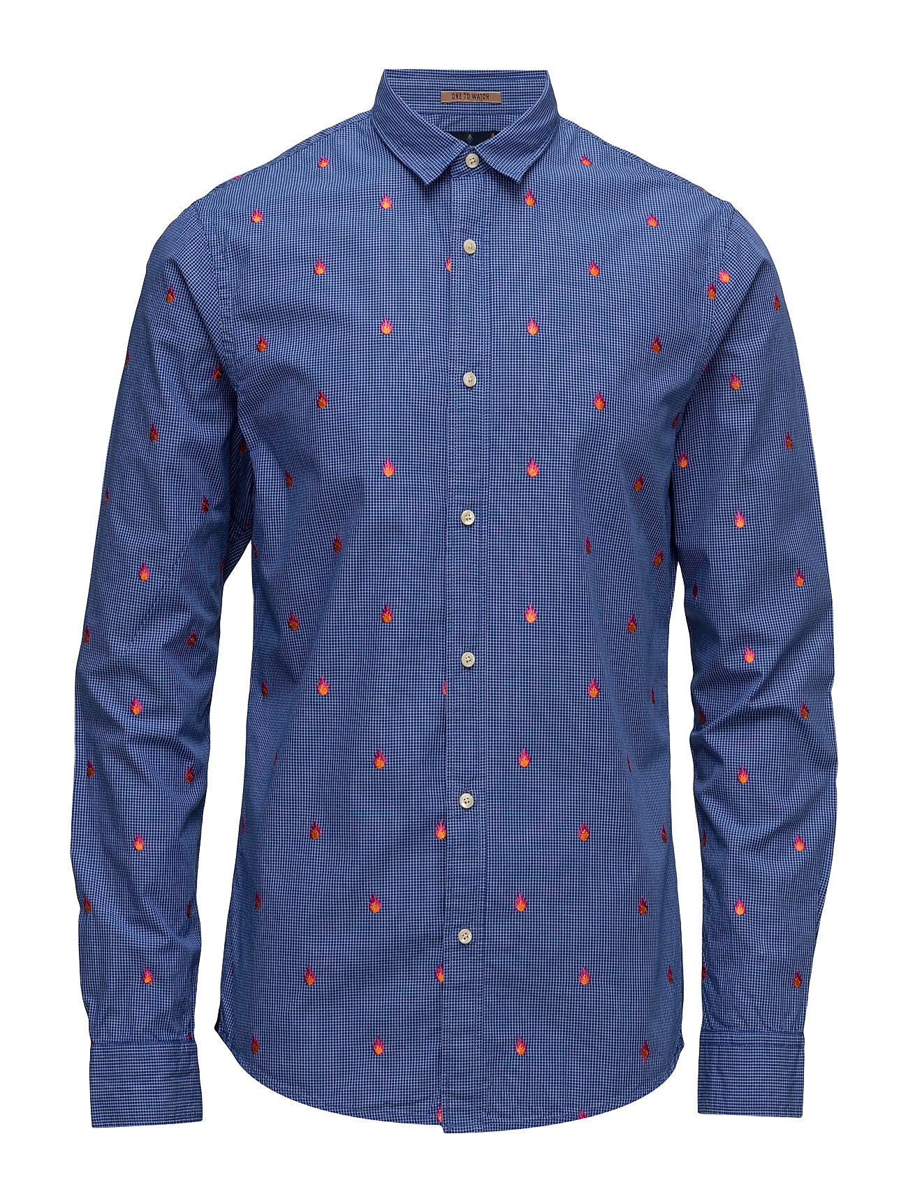 Longsleeve Shirt With All-Over Embroidery Scotch & Soda Business til Herrer i
