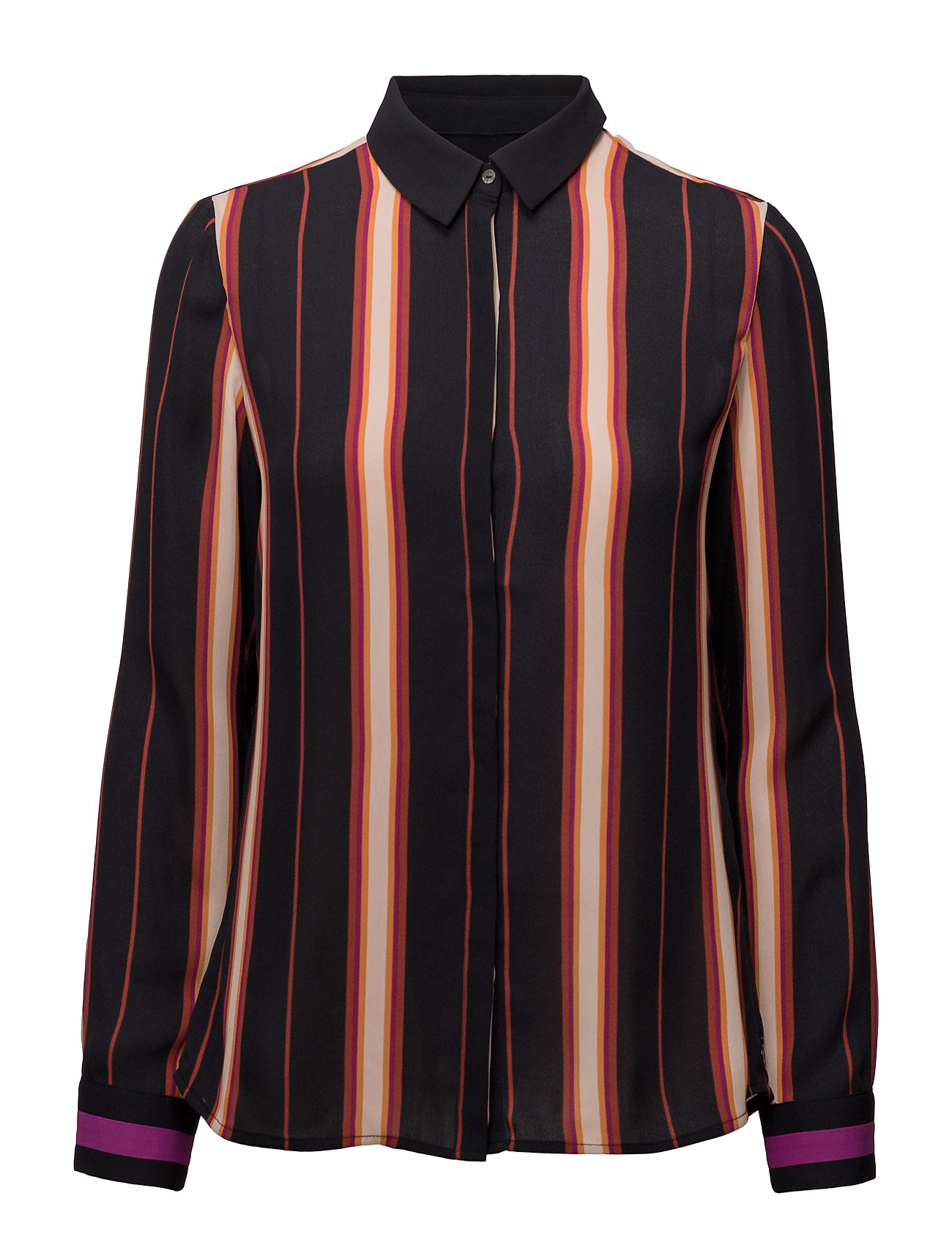 Silky feel button up shirt in stripe or colour block fra scotch & soda på boozt.com dk