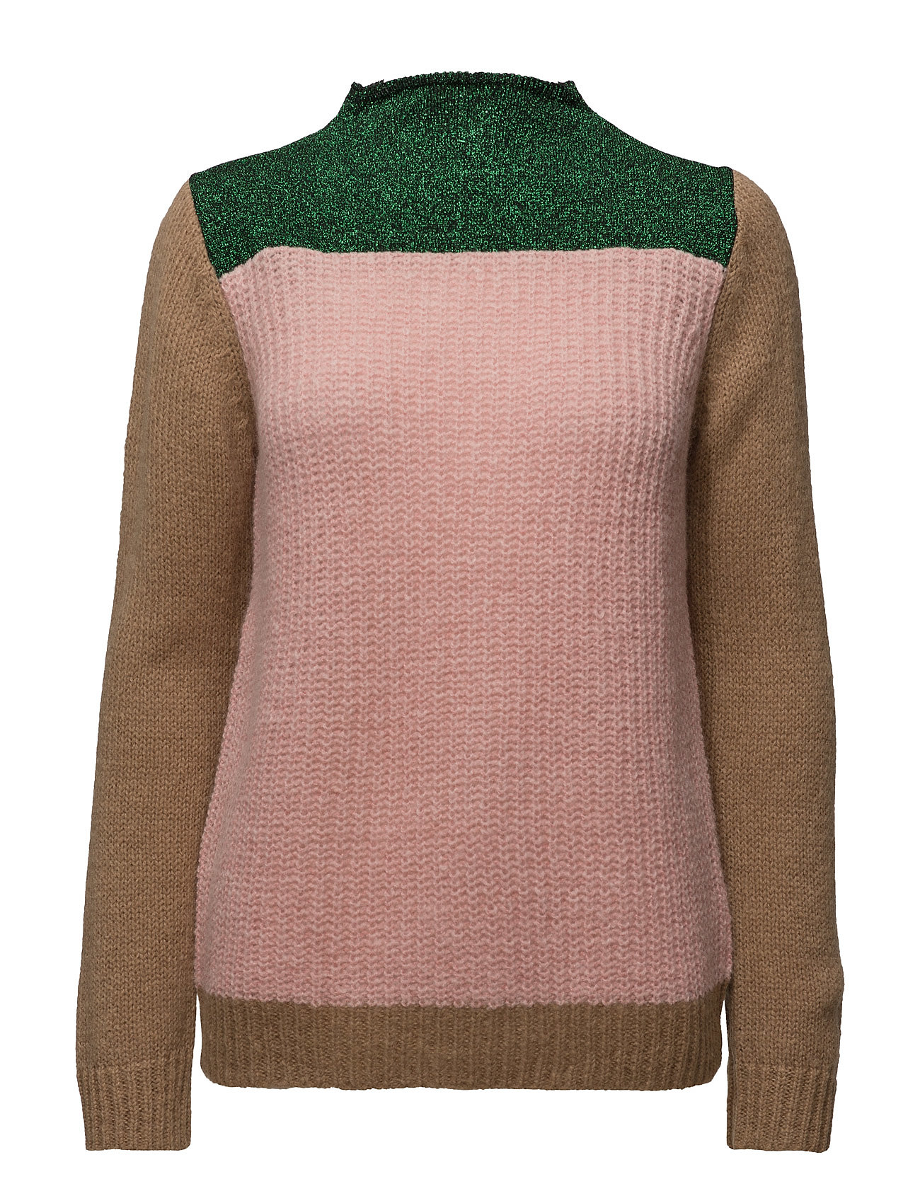 Colour Blocked High Neck Knit In A Mix Of Yarns Scotch & Soda Sweatshirts til Damer i Combo A