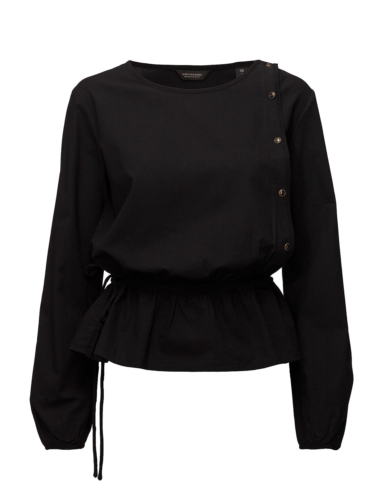 Drapy Femime Top With Button Closure