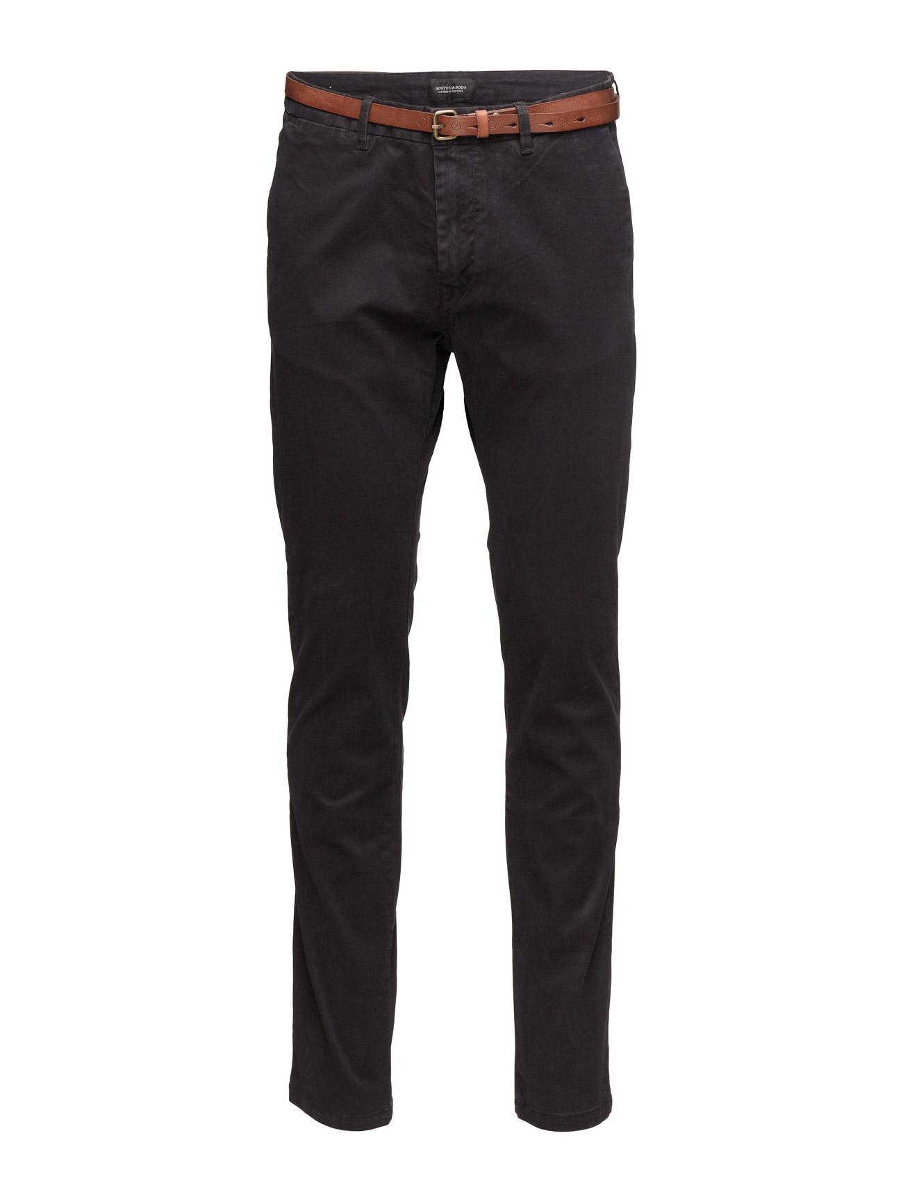 Slim Fit Cotton/Elastan Garment Dyed Chino Pant Scotch & Soda Chinos til Herrer i