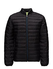 Classic quilted jacket in nylon quality - 8 BLACK