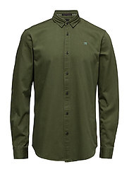 RELAXEFIT Longsleeve shirt in classic twill quality - EXPLORER GREEN