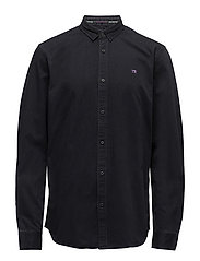 RELAXEFIT Longsleeve shirt in classic twill quality - WASHED BLACK