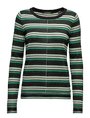Fine gg pullover lurex knit in stripes or solid - COMBO B