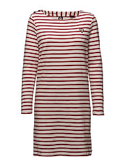 Scotch  &  Soda - Classic Breton Dress With Shoulder Closure