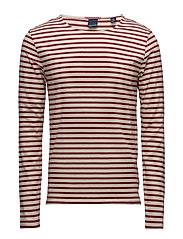 Long sleeve striped distillery breton tee - COMBO A