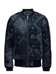 Ams Blauw indigo bandana bomber jacket - COMBO A